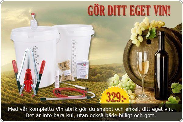 Vinfabriken för hemgjort eget vin
