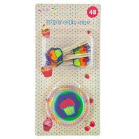 Cake Cups med Cake Picks - Multicolor cupcake