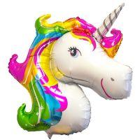 Folieballong Unicorn Regnbåge