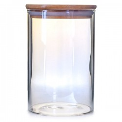 Glasburk med Trälock 10 x 15 cm