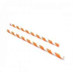 Sugrör i papper Orange 25-pack