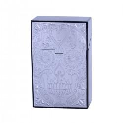Cigarettask plast Dödskalle - Silver